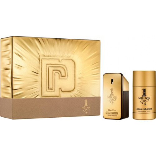 Paco Rabanne 1 Million Men Set 50ml eau de toilette spray + 75ml Deodorant Stick