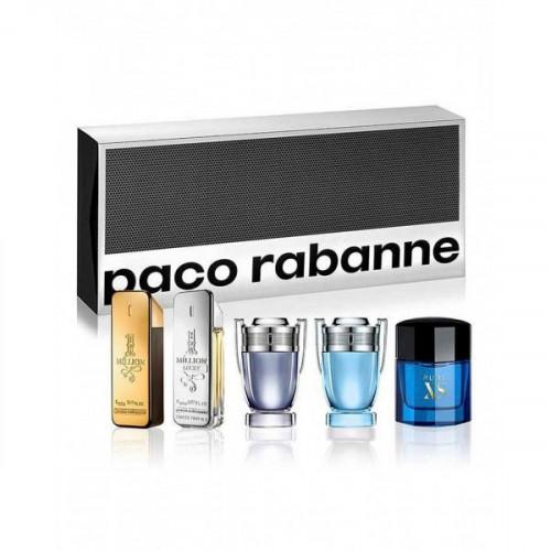 Paco Rabanne Heren Miniaturen Set Special Travel Edition  4 x 5ml edt + 1 x 6ml edt