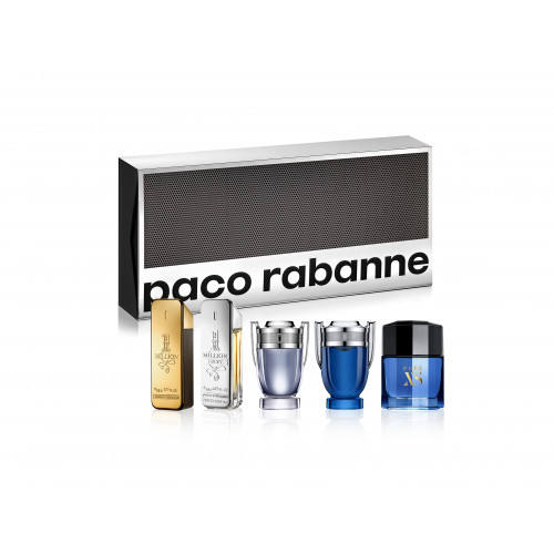 Paco Rabanne Heren Miniaturen Set Special Travel Edition (1 Million, 1 Million Lucky, Invictus, Invictus Legend, Pure XS For Him)