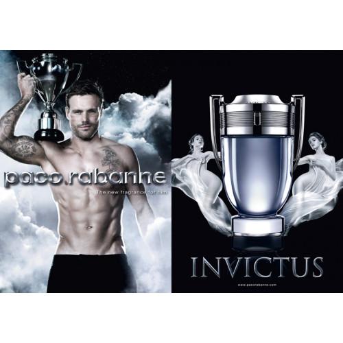 Paco Rabanne Invictus Set 50ml eau de toilette spray +100ml Showergel + 10ml tasspray