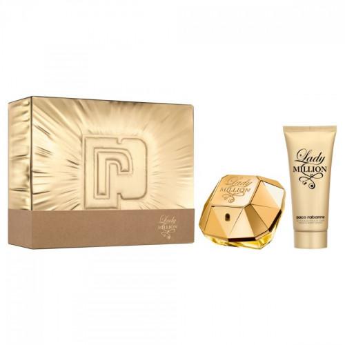 Paco Rabanne Lady Million Set 80ml eau de parfum spray + 100ml Bodylotion