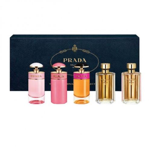 Prada The Prada Miniatures Collection 5 delig (Candy Florale, Candy Gloss, Candy,La Femme Prada edp, La Femme Prada edt)