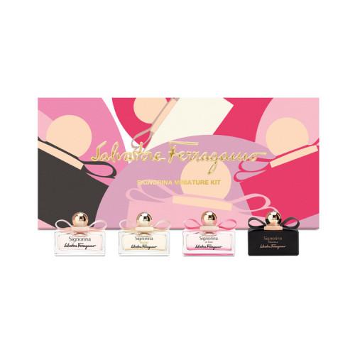 Salvatore Ferragamo miniatuur set Feminine Miniature Kit 5-delig