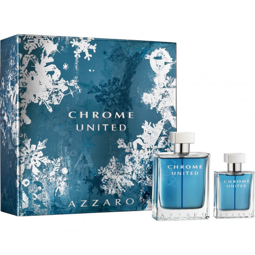 Azzaro Chrome United Set 100ml eau de toilette spray + 30ml edt
