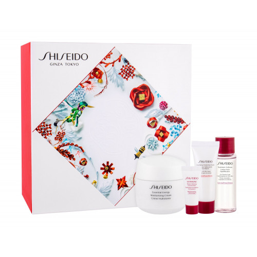 Shiseido Essential Energy set Moisturizing Cream 50ml + Clarifying Cleansing Foam 15ml + Treatment Softener 30ml + Ultimune Power Infusing Concentrate 5ml