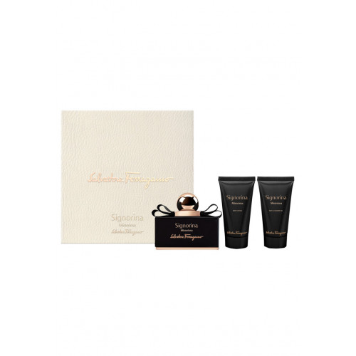 Salvatore Ferragamo Signorina Misteriosa Set 50ml Eau De Parfum Spray + 50ml Showergel + 50ml Bodylotion