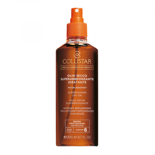 Collistar Supertanning Dry Oil SPF 6 200ml Water Resistant