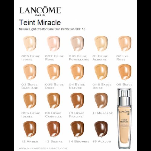 Lancôme Teint Miracle Bare Skin Foundation 30ml Spf15 15 Acajou