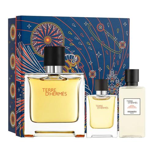 Hermès Terre d'Hermès Set 75ml parfum spray + 12.5ml edp + 40ml aftershave