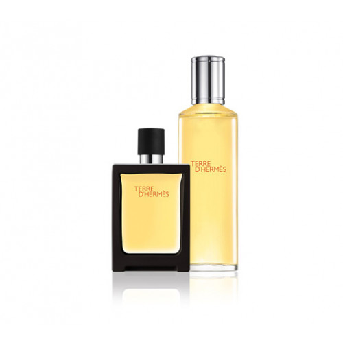 Hermès Terre d'Hermès set 30ml parfum spray + 125ml parfum flacon navulling
