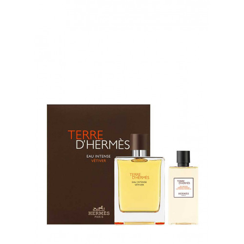 Hermes Terre d'Hermes Eau Intense Vetiver 100ml eau de parfum spray + 80ml showergel