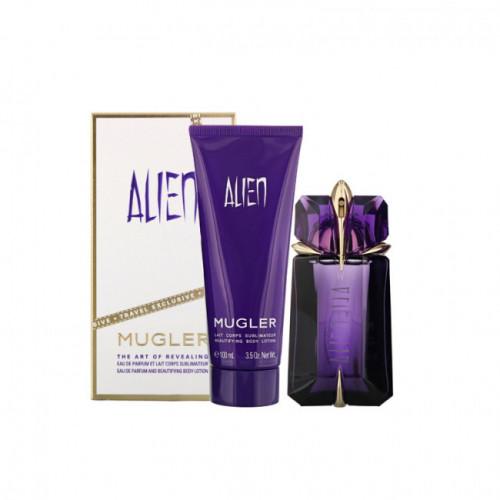 Thierry Mugler Alien Set 60ml eau de parfum spray Navulbaar+ 100ml bodylotion