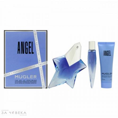Thierry Mugler Angel Set 50ml eau de parfum refillable  spray + 50ml Showergel + 10 ml travelspray