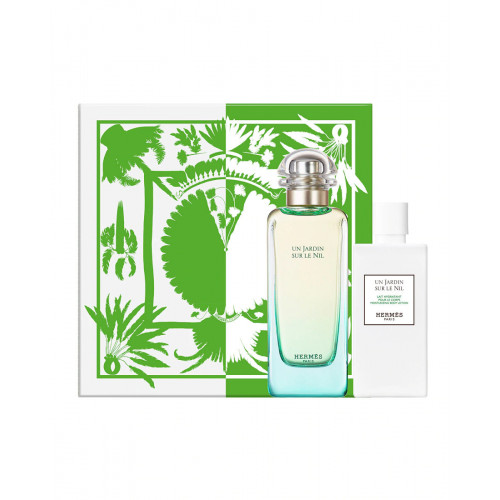 Hermes Un Jardin Sur le Nil Set 100ml eau de toilette spray + 80ml Bodylotion