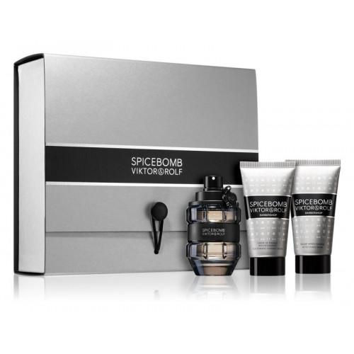 Viktor & Rolf Spicebomb Set 50ml eau de toilette spray + 50ml Showergel + 50ml Aftershave Balsem