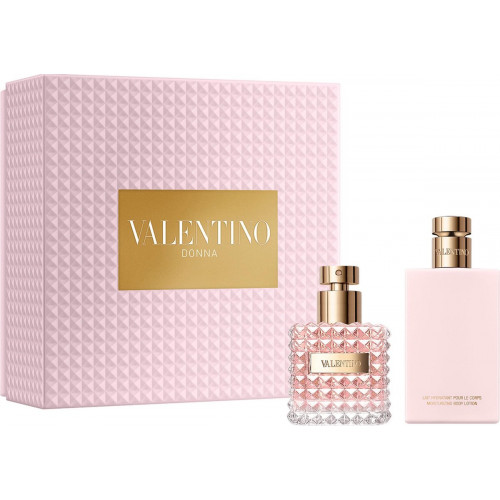 Valentino Donna Set 50ml eau de parfum spray + 100ml Bodylotion