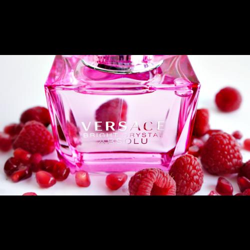Versace Bright Crystal Absolu set  90ml eau de parfum spray + 100ml Bodylotion + 100ml Showergel + 5 ml eau de parfum miniatuur
