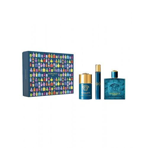 Versace Eros Set 100ml eau de toilette spray + 75ml Deodorant Stick + 10ml edt Tasspray