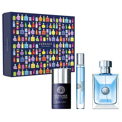 Versace Pour Homme Set 100ml eau de toilette spray + 75ml Deodorant Stick+ 10ml edt Tasspray