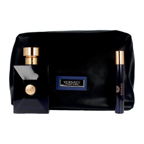Versace Pour Homme Dylan Blue Set 100ml eau de toilette spray + 10ml edt Miniatuur + Toilettas