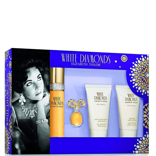 Elizabeth Taylor White Diamonds Set 50ml edt + 30ml Bodylotion + 30ml Showergel + 3,7ml edt mini