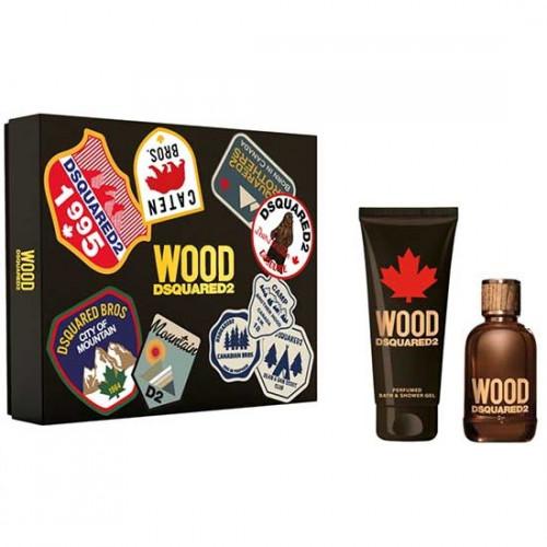 Dsquared² Wood pour Homme Set 100ml Eau de Toilette Spray + 150ml Showergel