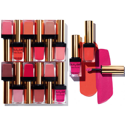 Yves Saint Laurent YSL Baby Doll Kiss & Blush Lips & Cheeks Lippenstift + Blush Nr 18 Rose Provocant