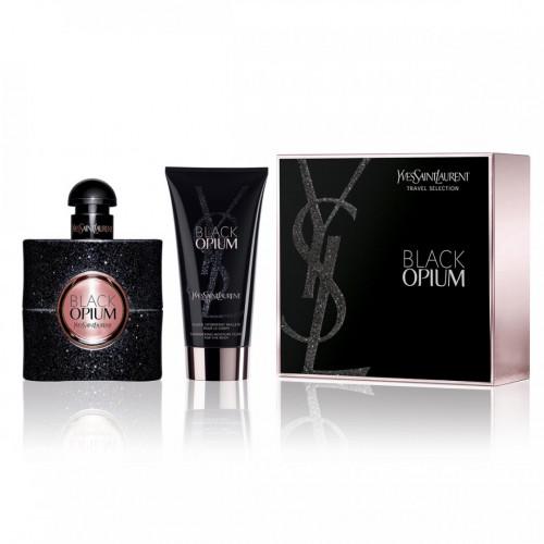 YSL Yves Saint Laurent Black Opium Set 50ml eau de parfum spray + 50ml Bodylotion