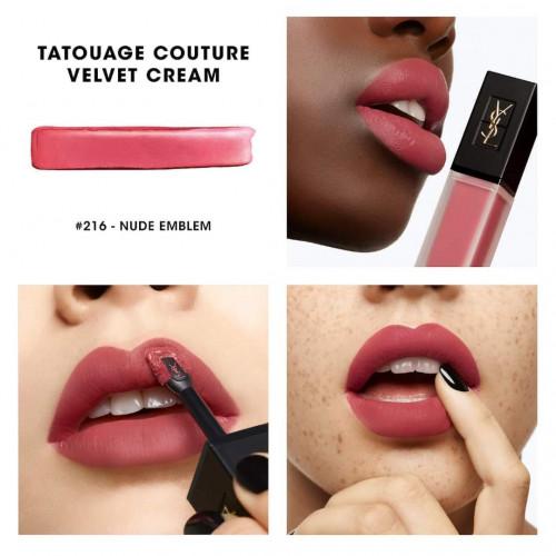 Yves Saint Laurent Tatouage Couture Velvet Cream Lipstick 206 - Club Bordeaux 6ml
