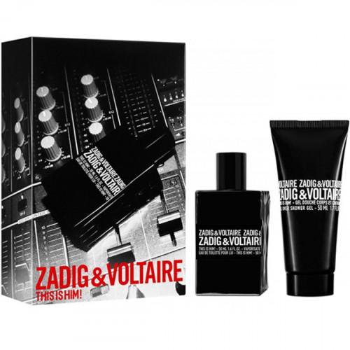 Zadig & Voltaire This Is Him! Set 50ml eau de toilette spray + 75ml Showergel