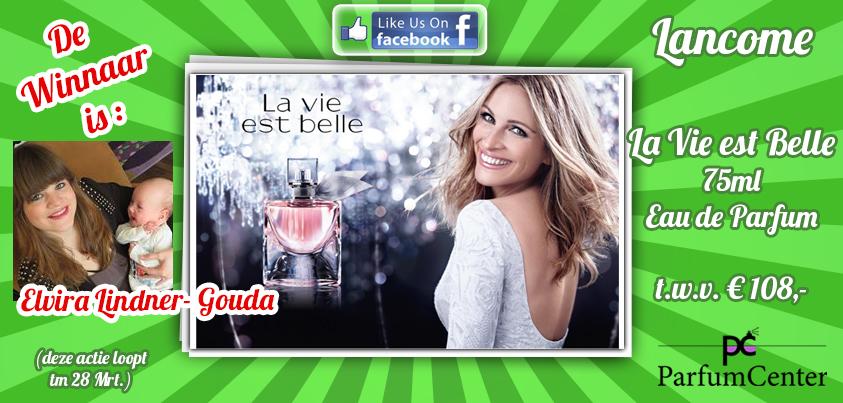 Winnaar van Lancome La Vie Est Belle bij Parfumcenter.nl